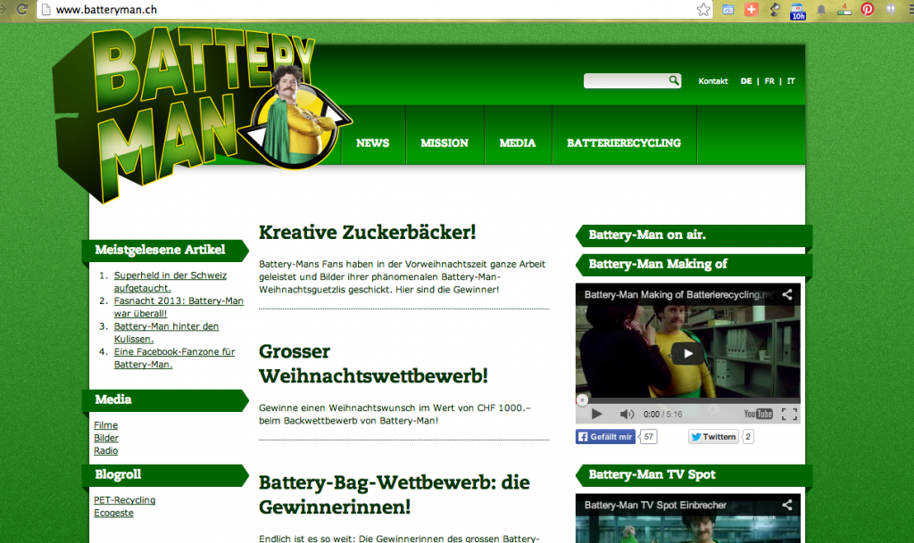 Battery-Man Website